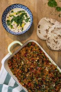 Tabouleh s hummusem - příprava