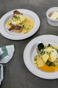 Vejce benedikt a vejce florentine