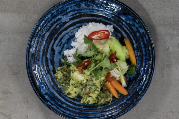 Restovaná rýže s krabem
