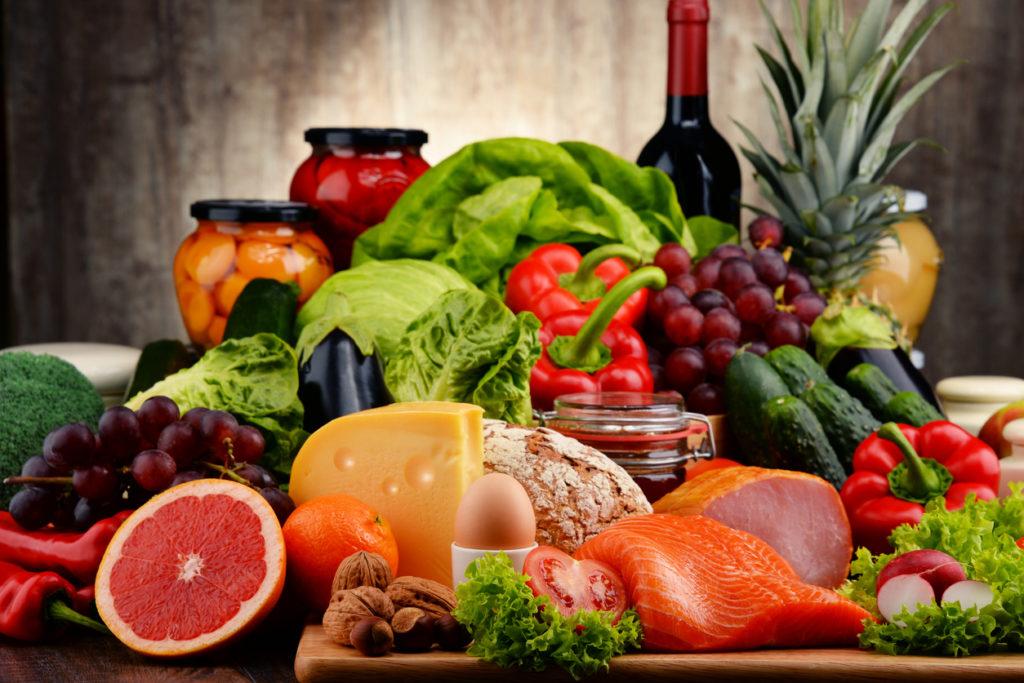 Různé druhy potravin